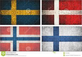Scandanavian Flags Flags Of Scandinavia Stock Vector Illustration Of Denmark 41979683