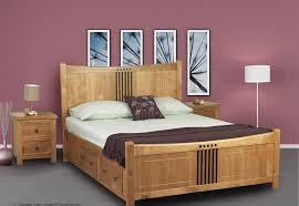 sweet dreams curlew oak drawer bed frame solid wood 180cm super