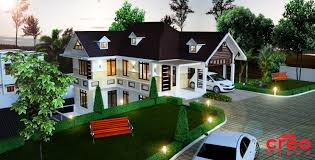 kerala home design house plans indian budget models hillside in