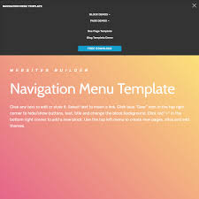 pages menu template free html bootstrap navigation menu template