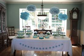 homemade baby shower decoration ideas for boys blue tissue paper