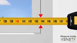 measuring inside window frame venetablinds com au youtube