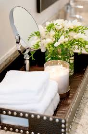 Guest Bathroom Ideas Pinterest I Love The Idea Of Using A Tray To Anchor Bathroom Items On The