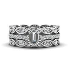 wedding ring trio sets engagement rings bridal trio wedding ring sets fascinating