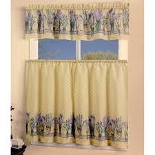 Lavender Window Curtains Lavender Flowers Kitchen Curtain
