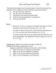 ratio and proportion worksheets with answers adding money