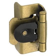 Amerock Kitchen Cabinet Hardware by Amerock 1 2 In Burnished Brass Double Demountable Inset Hinge