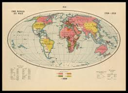 World At War Maps by World War One Map Of The World At War 1914 1918