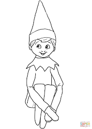 christmas elf shelf coloring free printable coloring pages