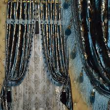 Blue And Gold Curtains Purple Quality Luxury Velvet Thick White Curtain Color Gold