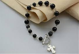 how to make a rosary beaded bracelets tutorial how to make rosary bracelet with eyepins