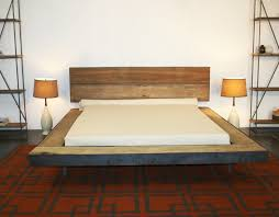 bed with headboard on red diy home designs wrought iron
