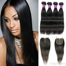 good hair for sew ins brazilian straight hair with closure grade 8a virgin hair cheap
