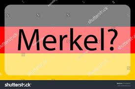 inscription merkel on background german flag stock vector
