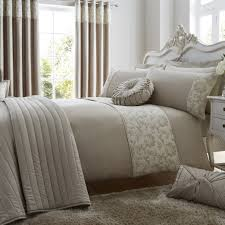 brown duvets in microfibre duck feather hollowfibre or anti allergy