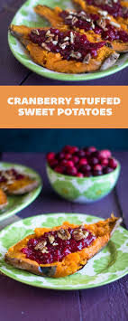 cranberry stuffed sweet potatoes thyme