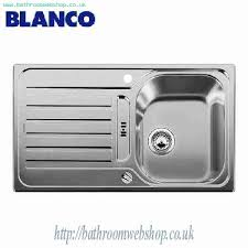 Stainless Steel Kitchen Sinks BLANCO Lantos S Stainless Steel - Kitchen sink pop up waste
