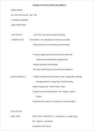 Functional Resume Sample Customer Service by Download Sample Of A Functional Resume Haadyaooverbayresort Com