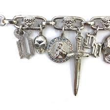 silver plated charm bracelet images Gianni versace gothic silver plated charm bracelet 1990s for sale jpg