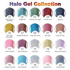 any 3 pcs halo gel polish soak off uv gel color glitter art nail