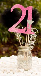 Centerpieces Birthday Tables Ideas by 21st Birthday Centerpiece Party Decoration By Gracesgardens