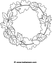 printable thanksgiving coloring pages wreaths leaves