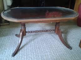 Vintage Glass Top Coffee Table Vintage Duncan Phyfe Coffee Table With Glass Top And Metal Cap