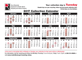 rockville md official website collection schedule