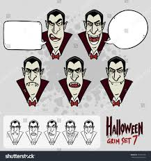 cartoon halloween pic halloween set 7 draculas face cartoon stock vector 151877558
