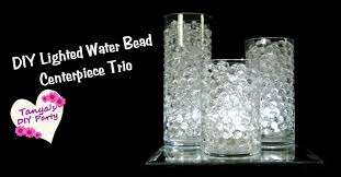 Lights In Vase Diy Water Bead Centerpiece Trio With Led Lights Youtube