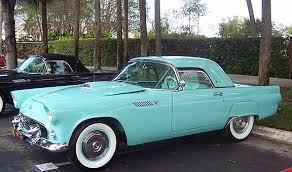 the classic 1955 ford thunderbird