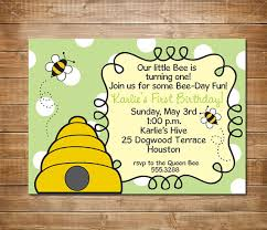 first birthday invitation bumble bee party by chevronprintables