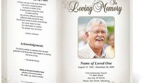 diy funeral programs funeral program templates systematic quintessence phlets
