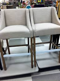 shopping for kitchen furniture furniture beige upholstered bar stools by tj maxx furniture for