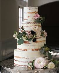 wedding cake styles half wedding cake nakedweddingcake weddings
