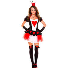 queen of hearts alice in wonderland costume fancy dress party