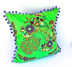embroidered mexican dress pillow lime u2013 bird and pear