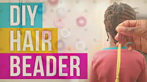hair beader how to put on hair with a diy hair beader