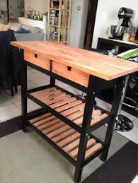 Ikea Kitchen Cart Makeover - cómo hacer una isla para la cocina ikea hackers breakfast bars