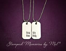 his and hers dog tags one his only mini dog tag set by stedmemoriesbymel