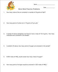 Stoichiometry Practice Worksheet Answer Key Mole Practice Worksheet 4 Stoichiometry By Brown Science Tpt