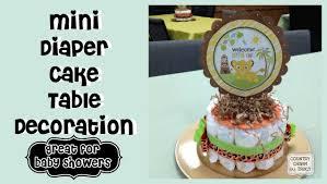 mini diaper cake table decoration youtube