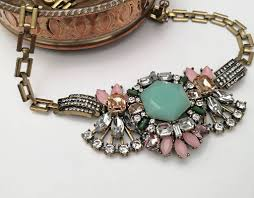 silver crystal vintage necklace images Necklacetatment goldtatement outfit outfits pinterest necklaces jpg