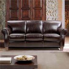 Chateau D Ax Leather Sofa Chateau D Ax 1681 Transitional Leather Sofa With Rolled Arms And