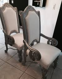 Beautiful Chairs by Two Beautiful Chairs Wood Perfect Condition For Sale In Miami