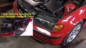 2003 bmw 325i radiator fan bmw 3 series e46 electric fan removing and replacing bmw