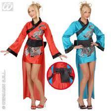 chinese lady fancy dress kimono blue