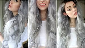 Grey Hair With Dark Highlights How To Dark Grey Silver U0026 Black Roots Evelina Forsell Youtube