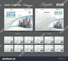 Desk Calendar Design Ideas Desk Calendar 2018 Template Design Blue Stock Vector 681259123