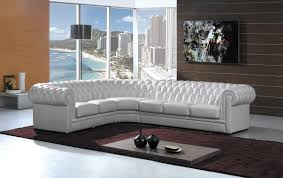 White Chesterfield Sofa by L Shape White Leather Sectional Sofa With Back And Arm Rest Placed